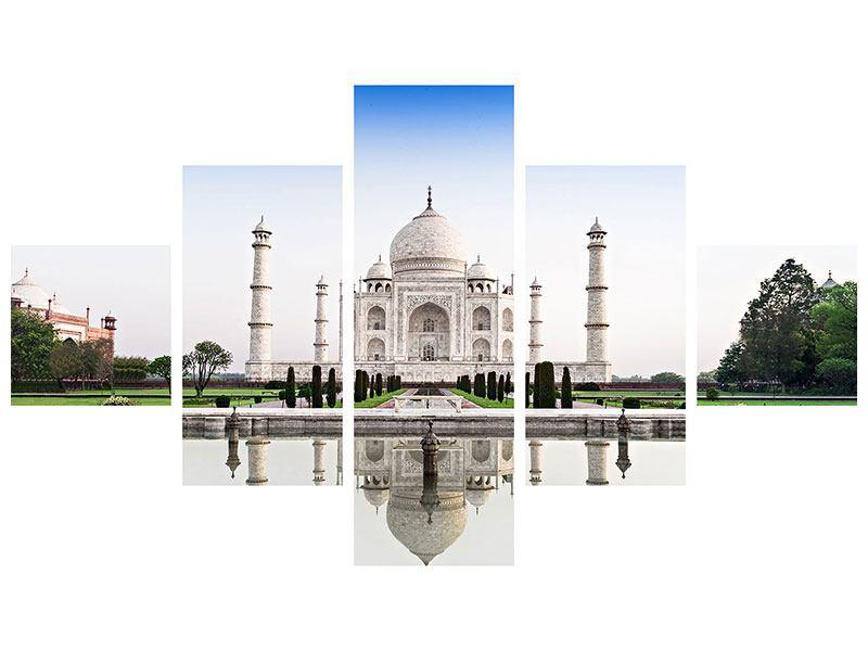 Klebeposter 5-teilig Taj Mahal