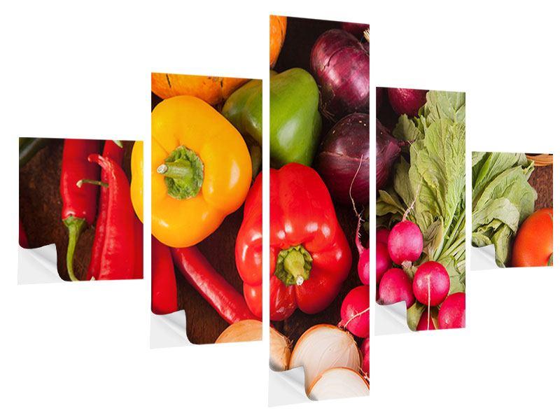 Klebeposter 5-teilig Gemüsefrische