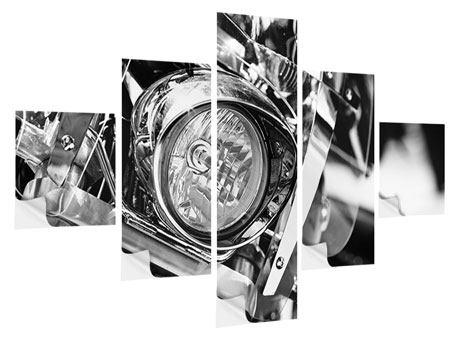 Klebeposter 5-teilig Motorrad Close Up