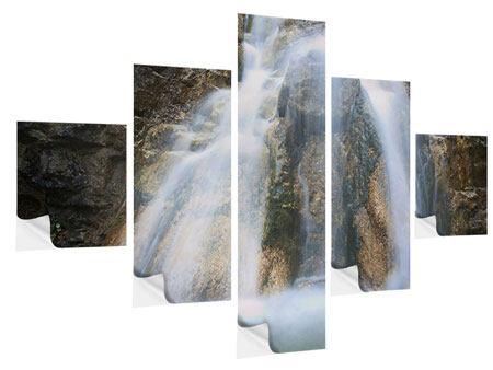 Klebeposter 5-teilig Imposanter Wasserfall