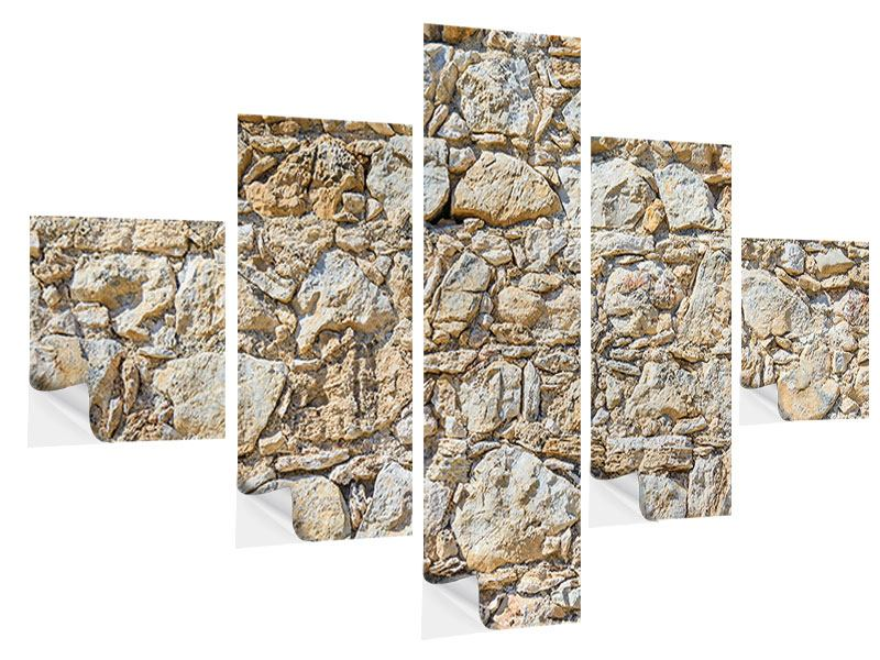 Klebeposter 5-teilig Sandsteinmauer