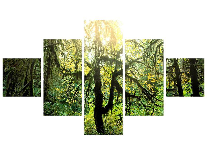 Klebeposter 5-teilig Verträumter Wald