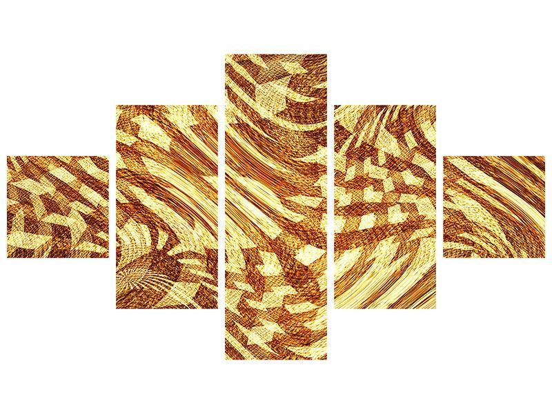 Klebeposter 5-teilig Retroperspektive