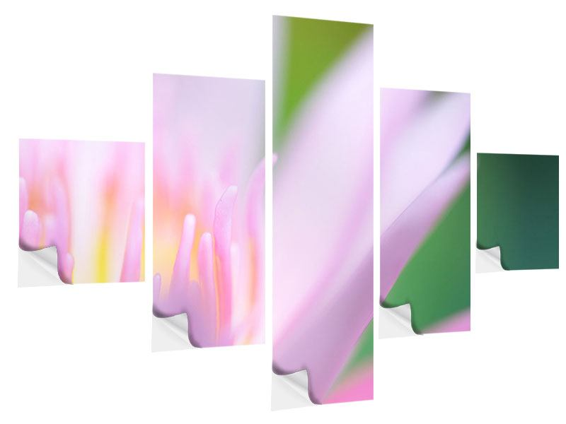 5 Piece Self-Adhesive Poster XXL Lily
