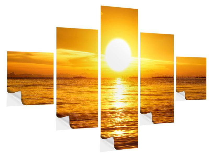 Klebeposter 5-teilig Traumhafter Sonnenuntergang