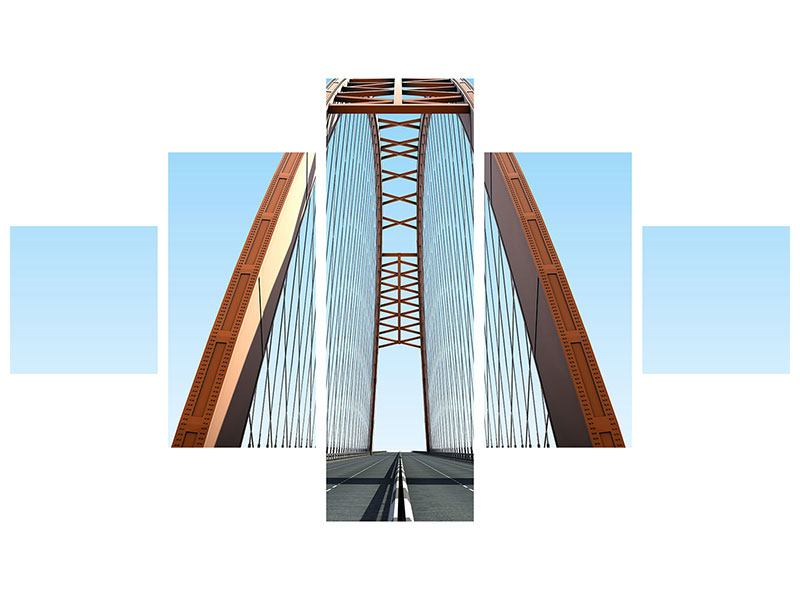 Klebeposter 5-teilig Brückenpanorama