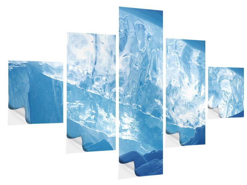 Klebeposter 5-teilig Baikalsee-Eis