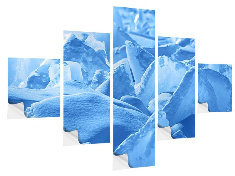Klebeposter 5-teilig Eis des Baikalsees