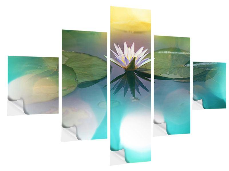 Klebeposter 5-teilig Lotus-Spiegelung