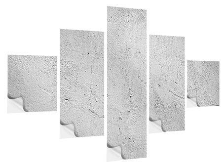 Klebeposter 5-teilig Beton