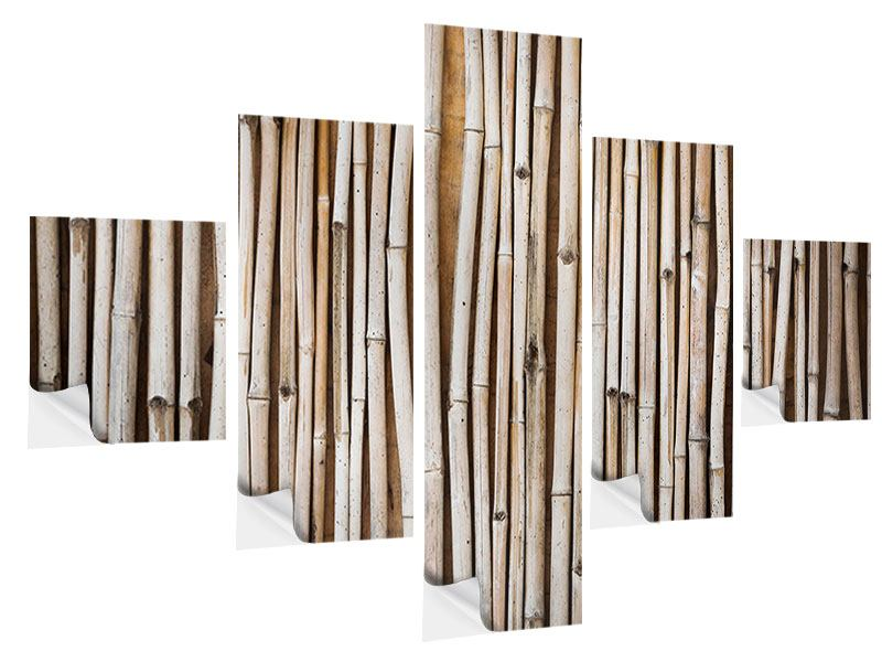 Klebeposter 5-teilig Getrocknete Bambusrohre