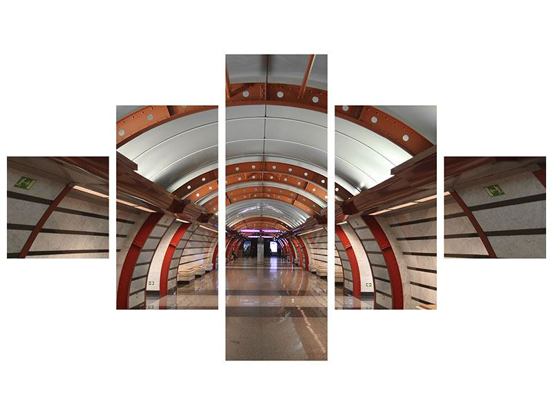 Klebeposter 5-teilig U-Bahn Station