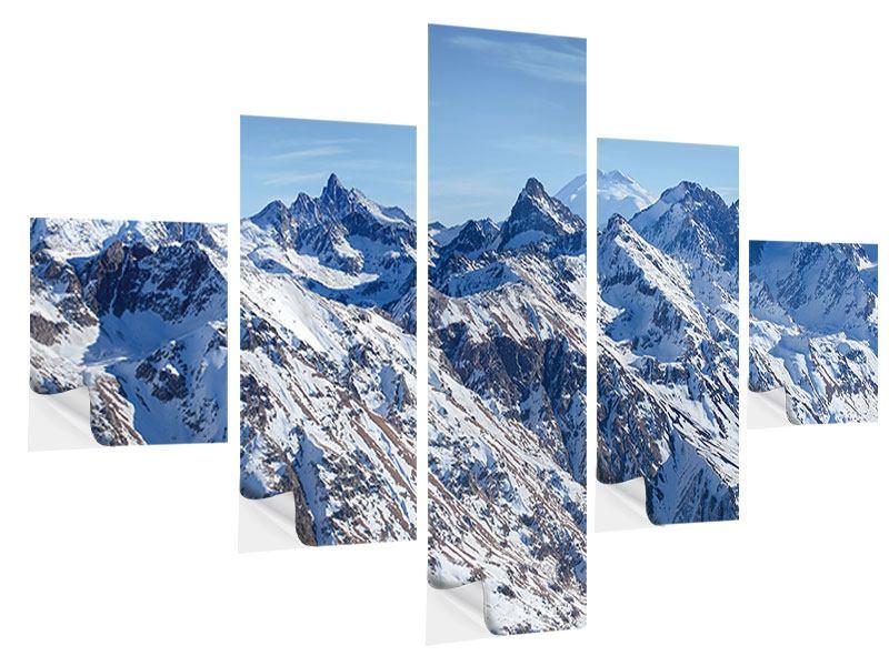 Klebeposter 5-teilig Gipfelspitzen