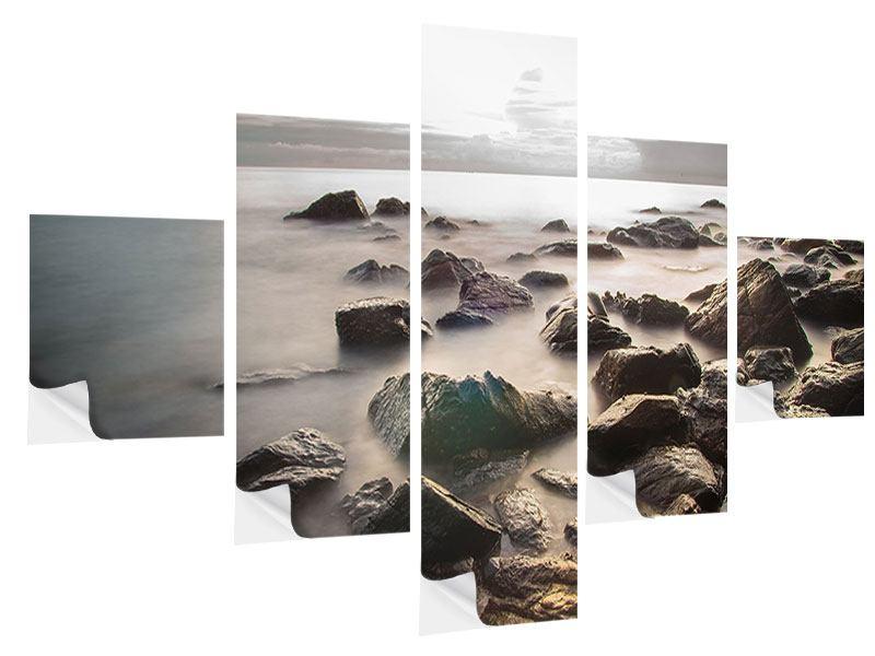 Klebeposter 5-teilig Steine am Strand