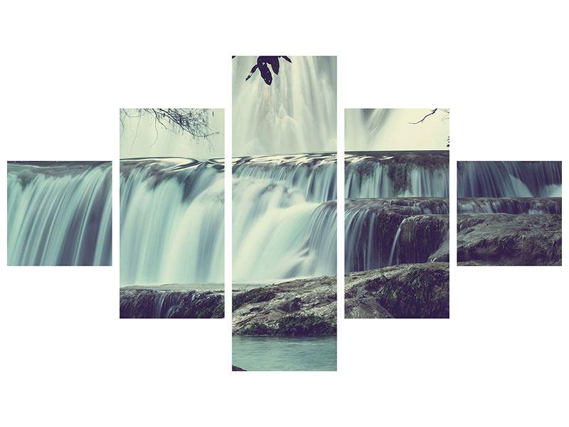Klebeposter 5-teilig Wasserfall Mexiko