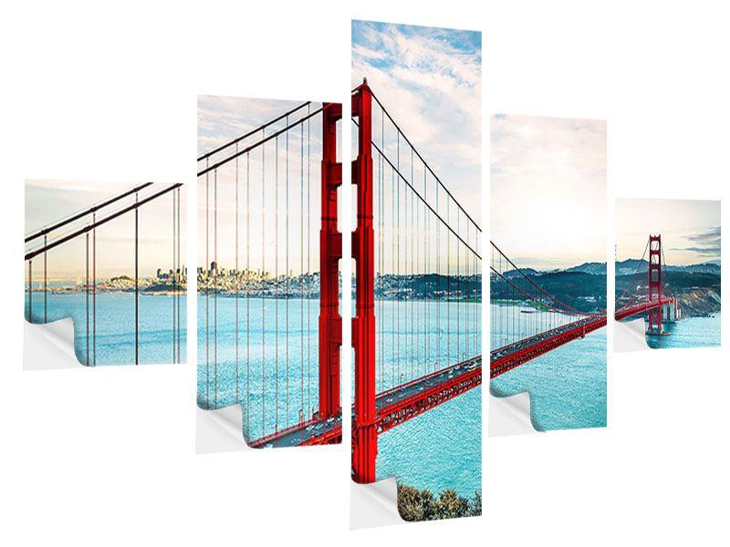 Klebeposter 5-teilig Golden Gate Bridge