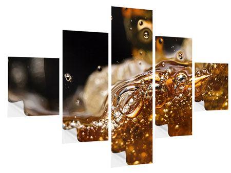Klebeposter 5-teilig Cognac