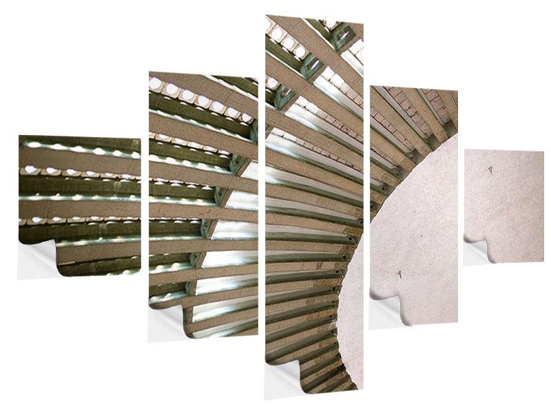Klebeposter 5-teilig Abstraktes Rad