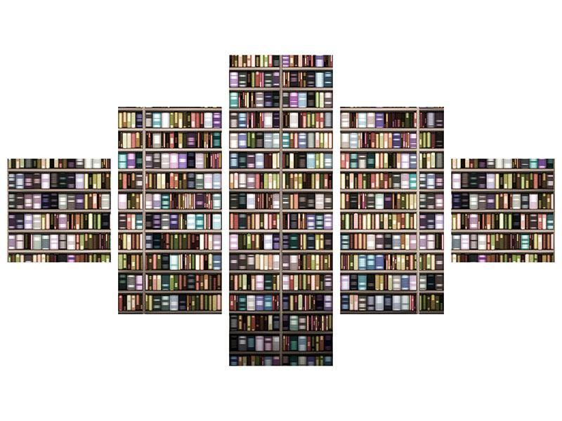 Klebeposter 5-teilig Bücherregal