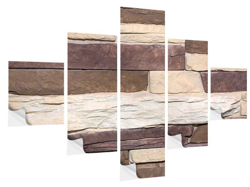 Klebeposter 5-teilig Designer-Mauer