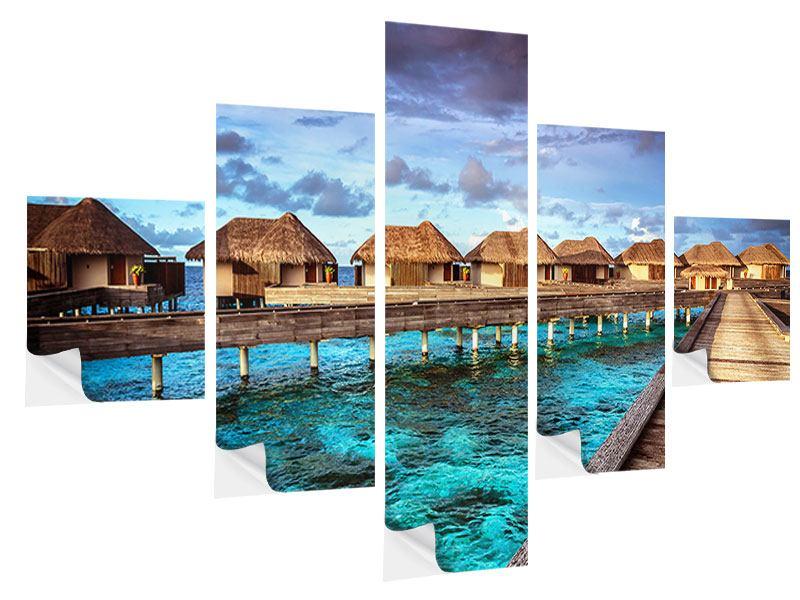 Klebeposter 5-teilig Traumhaus im Wasser