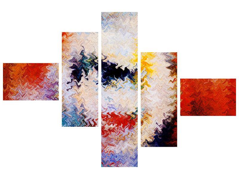 Klebeposter 5-teilig modern Wandmalerei