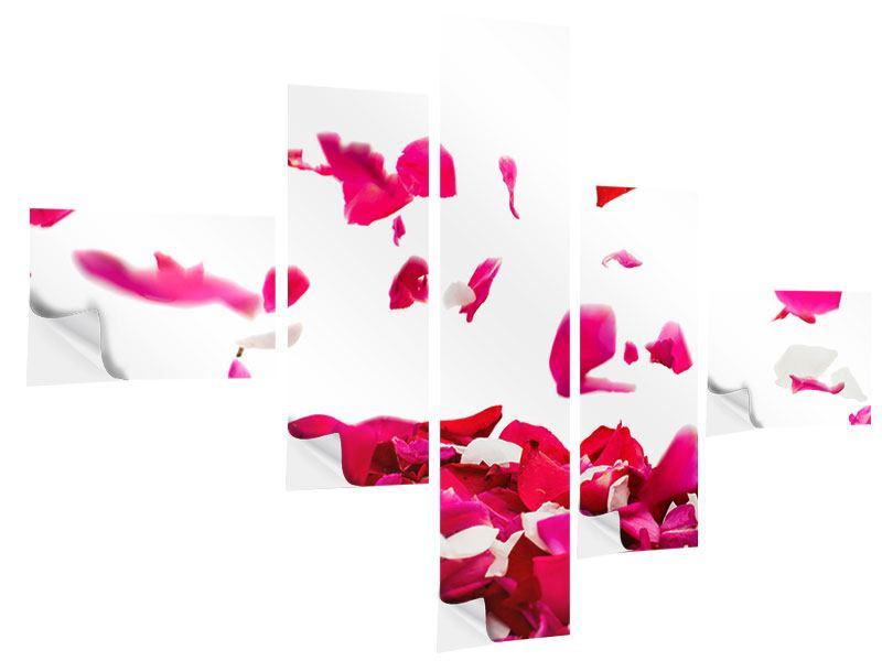 Klebeposter 5-teilig modern Für mich soll`s rote Rosen regnen