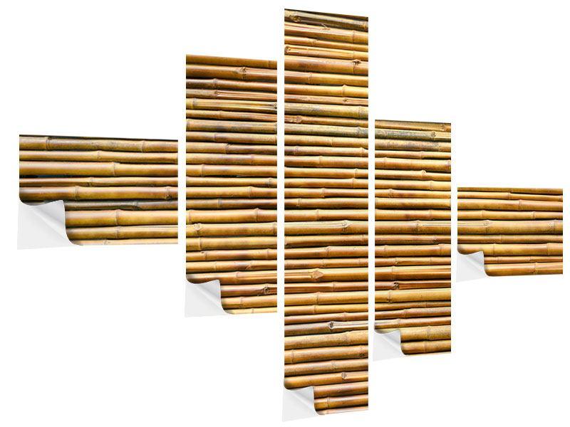 Klebeposter 5-teilig modern Bambus
