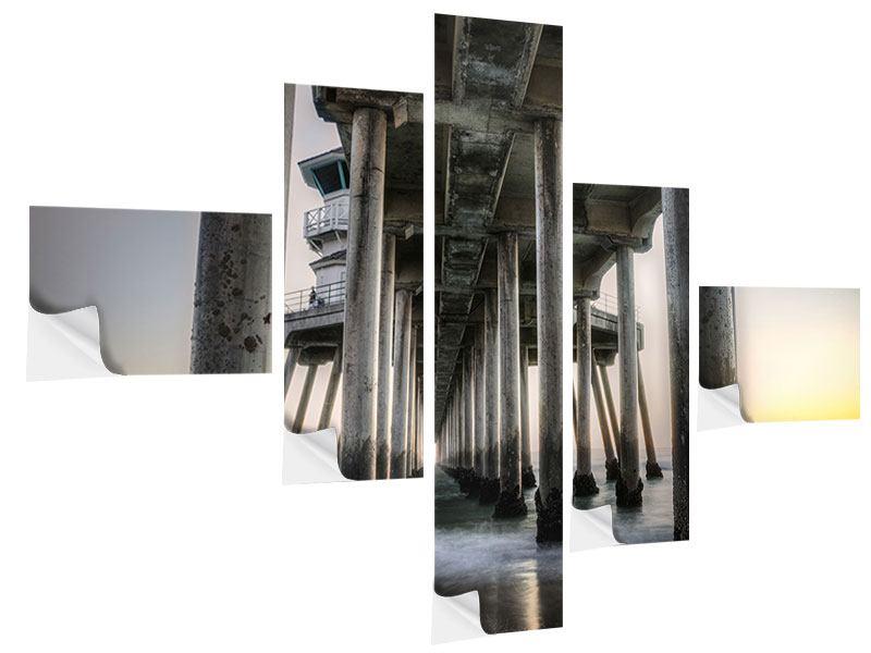 Klebeposter 5-teilig modern Brückenpfeiler