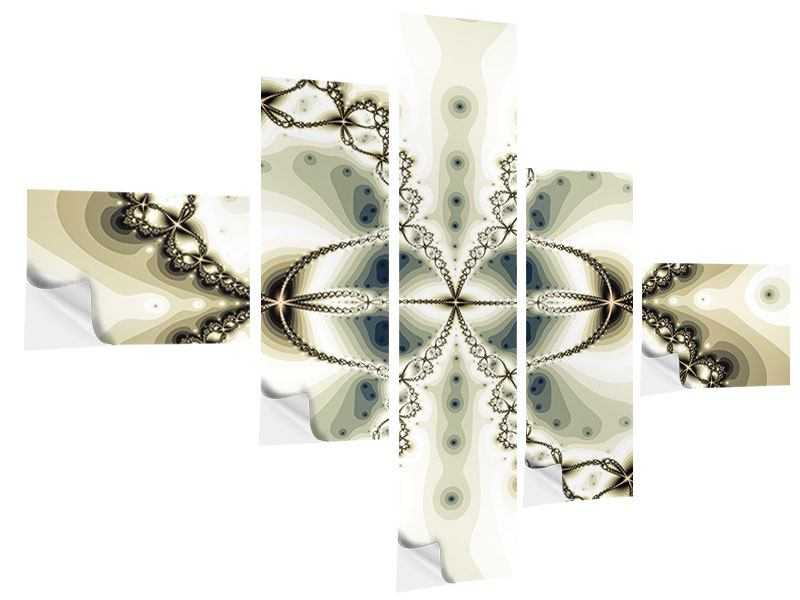 Klebeposter 5-teilig modern Abstrakter Schmetterling