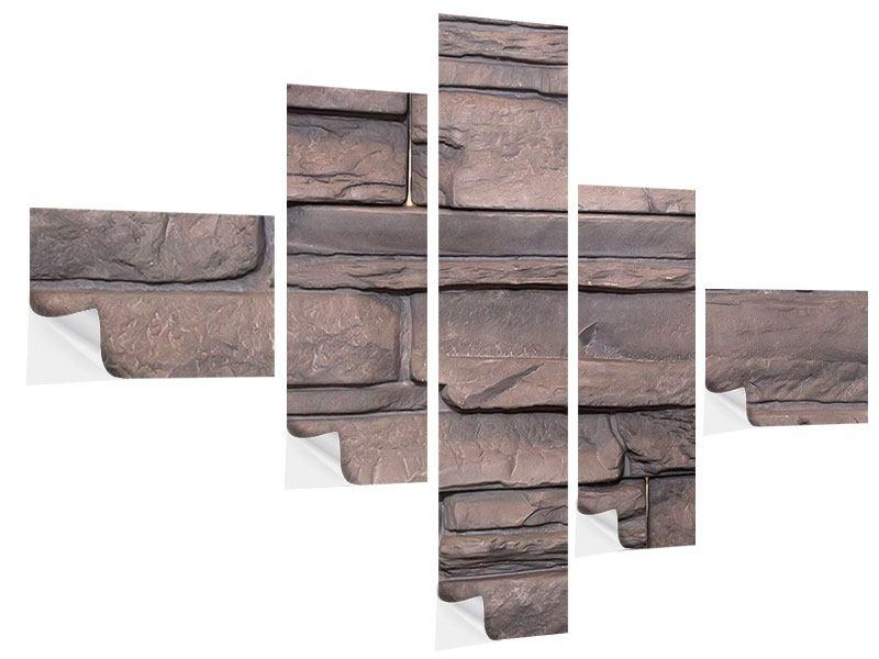 Klebeposter 5-teilig modern Luxusmauer