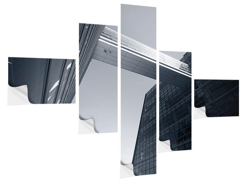 Klebeposter 5-teilig modern Der schwarze Diamant Kopenhagens