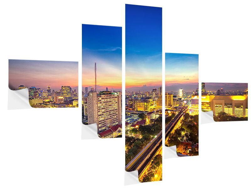 Klebeposter 5-teilig modern Bangkok
