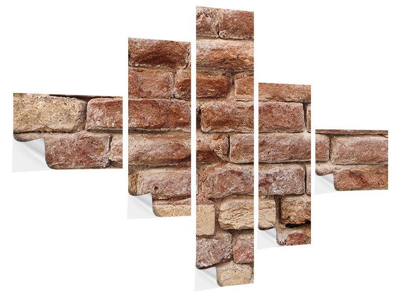 Klebeposter 5-teilig modern Loft-Mauer