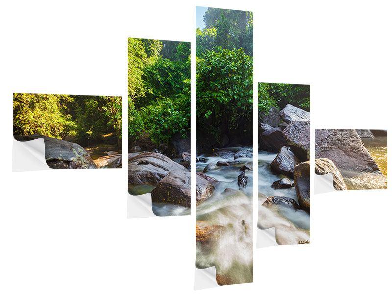 Klebeposter 5-teilig modern Das Gewässer