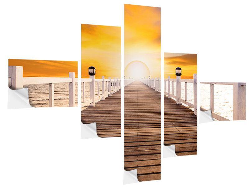 Klebeposter 5-teilig modern Die Brücke Ins Glück