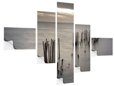 Klebeposter 5-teilig modern Das Meer und die Träne