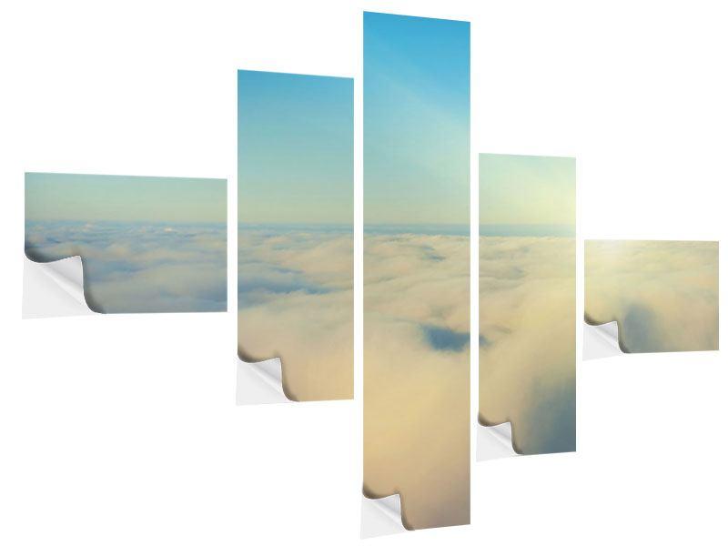 Klebeposter 5-teilig modern Dämmerung über den Wolken