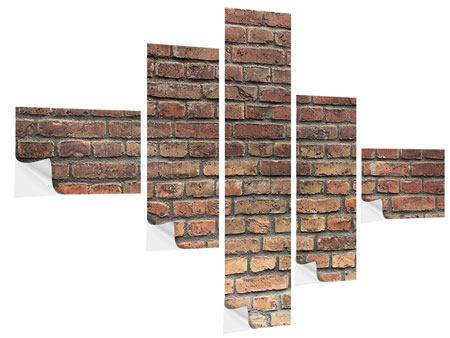 Klebeposter 5-teilig modern Brick Wall