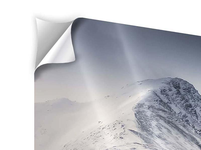 Klebeposter 5-teilig modern Die Berge der Schweiz