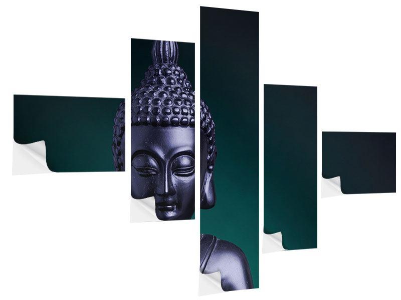 Klebeposter 5-teilig modern Die Weisheit des Buddhas