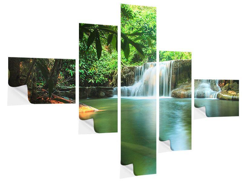 Klebeposter 5-teilig modern Element Wasser