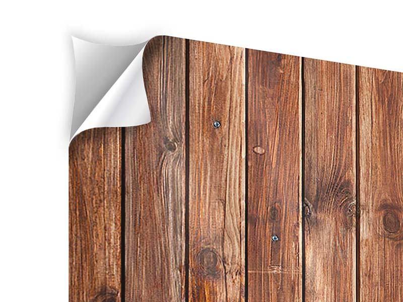 Klebeposter 5-teilig modern Edelholz