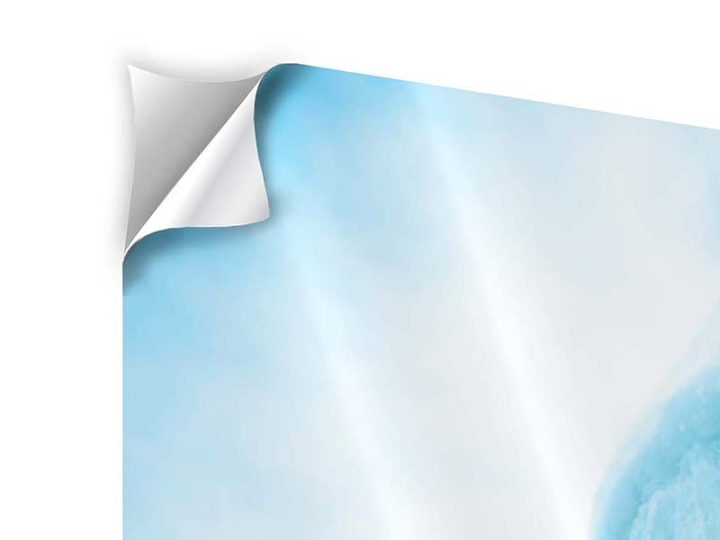 Klebeposter 5-teilig modern Die Eiswand