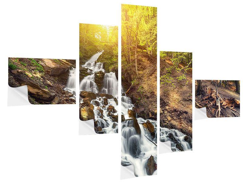 Klebeposter 5-teilig modern Naturschönheit