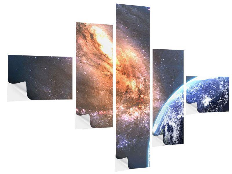 Klebeposter 5-teilig modern Universus