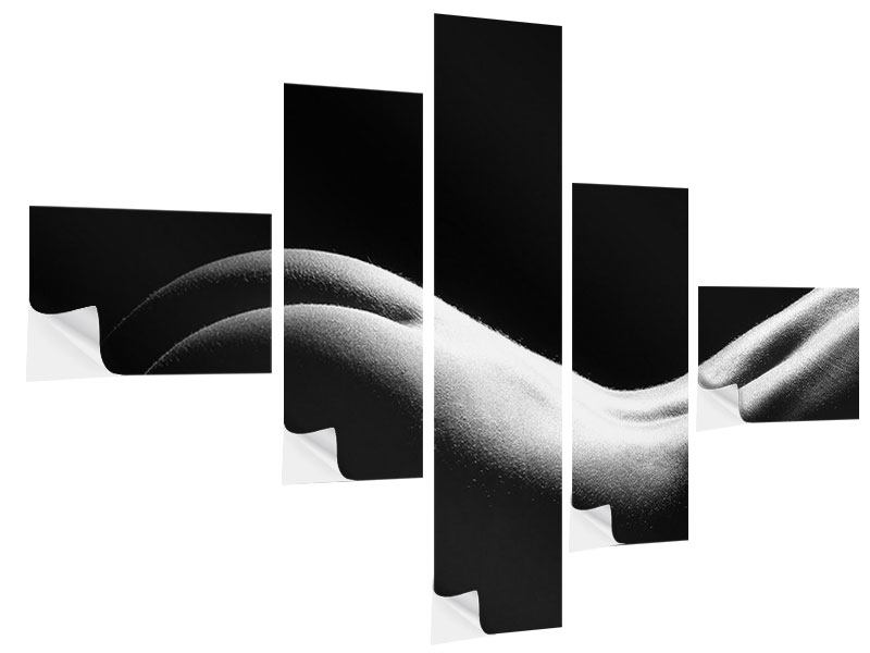 Klebeposter 5-teilig modern Nude