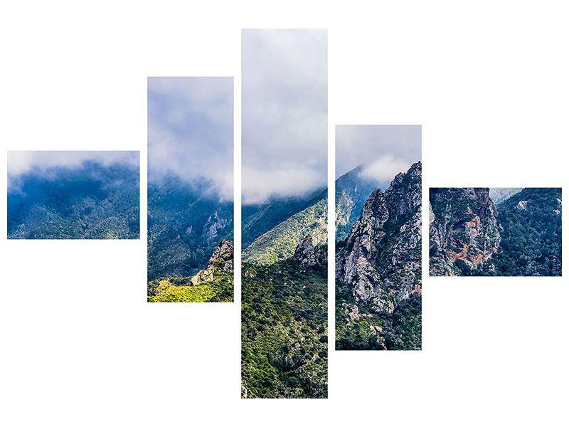 Klebeposter 5-teilig modern Der stille Berg