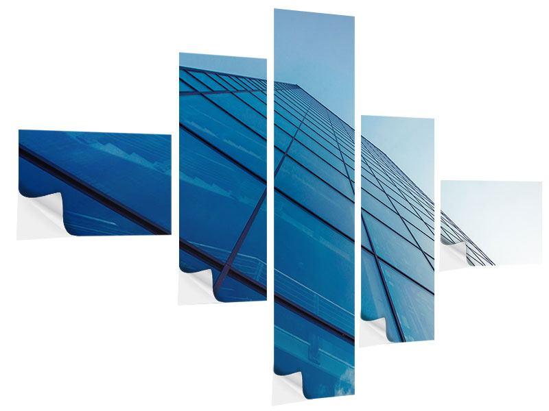 Klebeposter 5-teilig modern Wolkenkratzer-Highlight