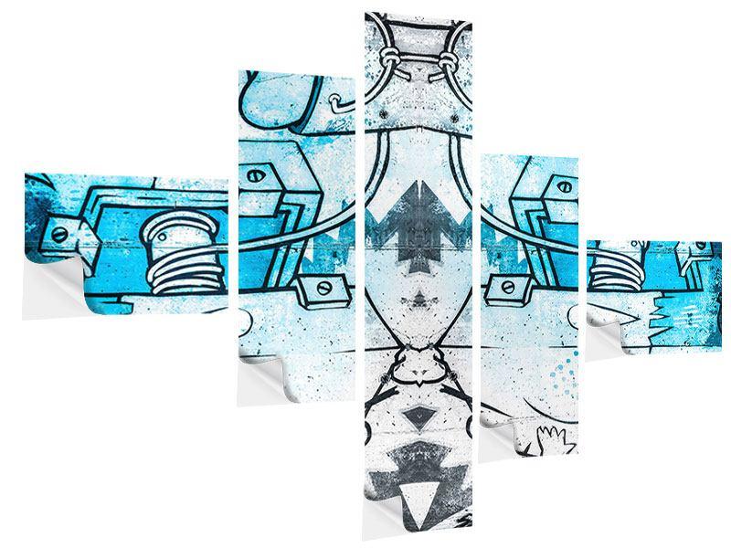 Klebeposter 5-teilig modern Graffiti